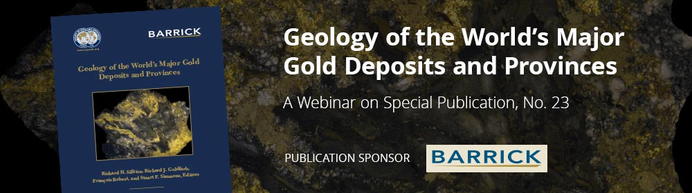 Publication on a background sample of gold with webinar title and sponsor logo